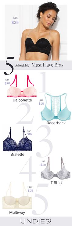 Meet your perfect bra for spring: Bralette or Push Up bra, lace, cotton or micro. You choose- and we'll send it. We can promise you, affordable luxury bras exist!
