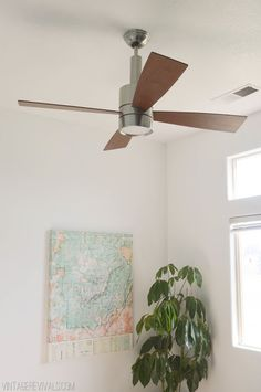 Brushed Nickel Bullet Ceiling Fan That Has A Contemporary Style And Is  Meant For An Indoor Large Room   Casablanca Fan Company