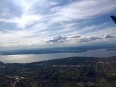 My view of the #sky and #clouds over #Seattle #Washington