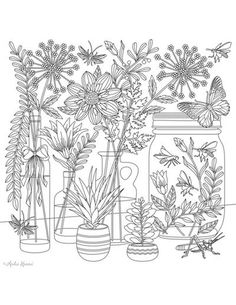Floral Coloring Pages For Adults