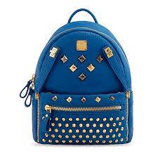 MCM Studs Backpack Medium Blue