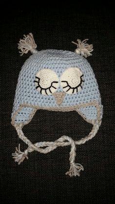 Crochet owlhat for newborn♡ Crochet Hats, Beanie, Fashion, Knitting Hats, Moda, Fashion Styles, Beanies, Fashion Illustrations, Beret