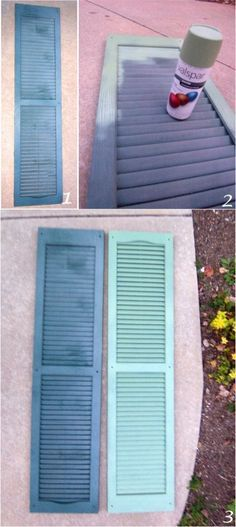 Spray Painted Shutters House Shutters Spray Painting