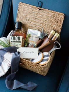 How to Put Together the Perfect Gift Baskets | Photo by: Rachel May Photo | TheKnot.com