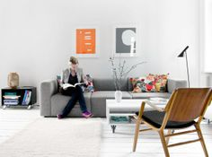 living room on white