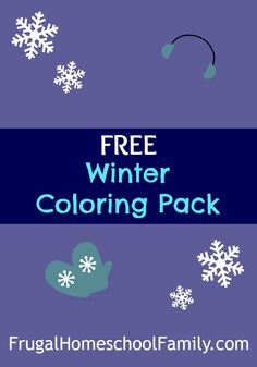 Get some great Winter Coloring sheets in this Winter Coloring Pack!