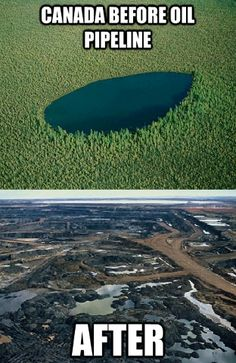 Before & After | Canadian Oil Pipeline