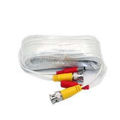 WennoW 4 packs White 60ft BNC Cable /& 3A Power adaptor for Security CCTV use//Zmodo//Qsee