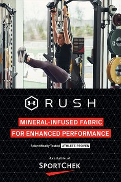 Created from innovative fabrics infused with minerals to improve strength & endurance so your muscles can work harder. And you get better. Work Harder, Work Outs, Workout Challenge, Fun Workouts, Muscles, Minerals, Under Armour, Athlete, Strength