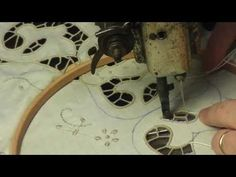 Ricamo a mano macchina intaglio,Singer 15K - YouTube Crystal Embroidery, Cutwork Embroidery, Embroidery Thread, Cross Stitch Embroidery, Embroidery Designs, Sewing Machine Embroidery, Free Motion Embroidery, Machine Applique, Green Books