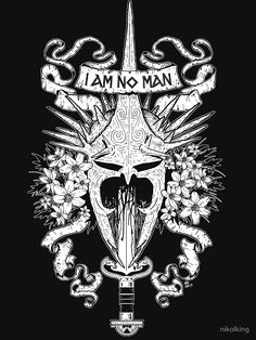 """I AM NO MAN"" T-Shirts & Hoodies by nikolking 