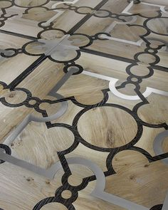 Antique and custom-made wooden floors Foyer Flooring, Wooden Flooring, Hardwood Floors, Floor Design, Tile Design, Parquetry Floor, Cement Art, Floor Patterns, Marble Floor