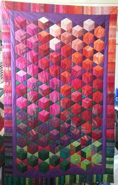 Handsew/quilt. found it in a recyclestore. Just love the color and design.From Dorte Rasmussen DK