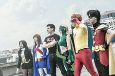 Young Justice. Cool cosplay, if only I could get my friends to do something like this with me.... :'(
