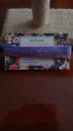 Light and Dark purple Zipper pattern friendship bracelet by JolieTreasure on Etsy