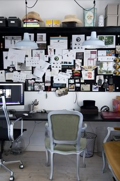 inspiration board + eclectic work space