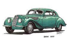 Green 1937 BMW Car $3