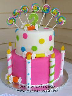 Make-a-Cake Series: Fondant Candy   Make It and Love It