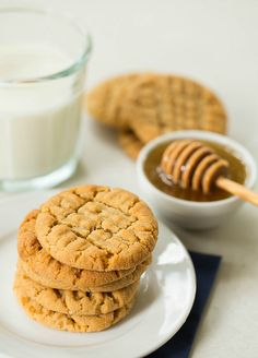 Honey-Peanut Butter Cookies - Brown Eyed Baker - A Food & Cooking Blog