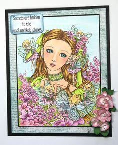 Tänk vad mycket man ser om man tror:) I en förtrollad trädgård kan allt finnas och i min finns det små söta blomsterälvor som flyger ...