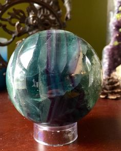 A personal favorite from my Etsy shop https://www.etsy.com/listing/278330574/gorgeous-green-fluorite-sphere-orb