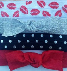 Hey, hot lips! HAUTE LIPS hair ties bracelets for pony and wrist! Fashion FLEXY® 4-Pack by Haute Things, Inc. #hairties #kisses #valentines #anyday www.fashionflexy.com