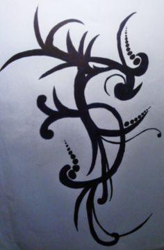 A woman tattoo idea.