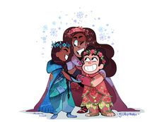 I saw your requests in the tags, guys. I love these besties. I imagine Steven would love twirling that dress. The petals would fan out and make an open rose!:*゚:*:✼✿ [More fancy gems! Amethyst Steven Universe, Greg Universe, Steven Universe Comic, Universe Art, Star Vs The Forces, Comic Artist, Miraculous Ladybug, Cartoon Network, Fan Art