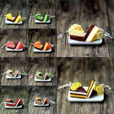 CITRONOVÝ+krémový+dort+Kdopak+má+rád+dortíky?+Možnost+nosit+originální+ozdůbku,+která+rozhodně+zaujme+:)+Velikost+pouhé+2+cm,+lehoučké+a+určitě+originální...++CENA+JE+ZA+PÁR!