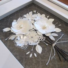 Hey, I found this really awesome Etsy listing at https://www.etsy.com/listing/194454694/framed-paper-flower-bouquet