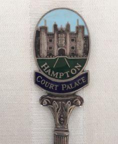 Souvenir Spoon Hampton Court Palace Silver Tone Vintage Greater London England