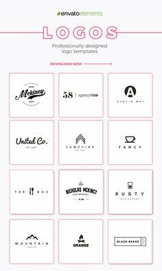 Logo Design Inspiration Discover The Best Logo Templates! Business Branding, Logo Branding, Corporate Branding, Brand Identity Design, Branding Design, Beste Logos, Online Logo, Education Logo, Instagram Logo