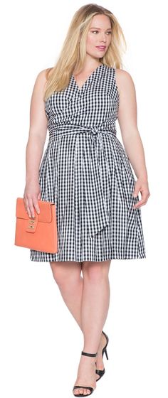 Plus Size A-Line Wrap Dress