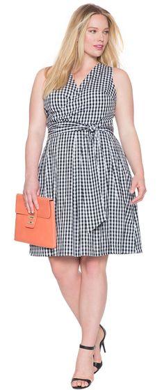 Plus Size A-Line Wrap Dress