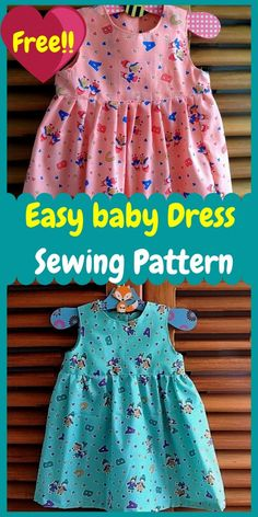 Toddler Sewing Patterns, Baby Dress Patterns, Baby Clothes Patterns, Pattern Sewing, Little Girl Dresses, Baby Dresses, Sewing Baby Clothes, Dress Sewing, Baby Sewing
