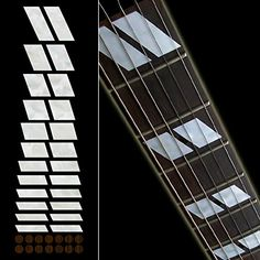 Fretboard Markers Inlay Sticker Decals for Guitar  Bass  DoubleParallelogram 175 Style ** Want additional info? Click on the image.