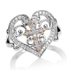 Zales Diamond Accent Double Criss-Cross Heart Ring in Sterling Silver R9EQhmFj
