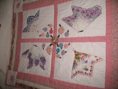 Dolly's hankie butterfly quilt