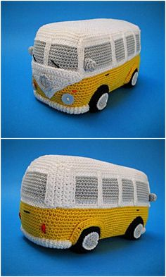 Crochet Tissue Holder Beetle And Camper Patterns Crochet Pillow, Crochet Motif, Diy Crochet, Crochet Hooks, Crochet Toys Patterns, Stuffed Toys Patterns, Asian Quilts, Beginner Crochet Projects, Knit Basket