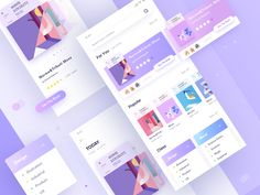 Reading App designed by Hippie Mao. Connect with them on Dribbble; Ui Design Mobile, Ios App Design, Interface Design, User Interface, Iphone Ui, Flat Web Design, Web Layout, Design Layouts, Website Layout