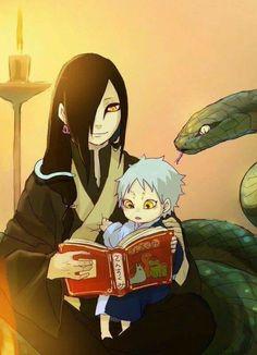 Orochimaru and his son, Mitsuki ♥♥♥ #snakes #SageMode #Parent #Sannin