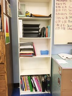Alert! $25 Ikea Bookshelf is amazing! I needed more room for my teaching materials and this was a great find! #teacher #ikea