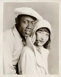 Stepin Fetchit & wife Dorothy Stevenson. Publicity photograph published in Screen Secrets Magazine, 1929.