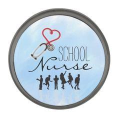 School Nurse Lapel Pin by schoolpsychdesigns of Zazzle.com