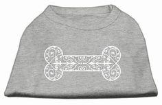 Henna Bone Screen Print Shirt Grey XS (8)