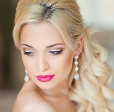 Imagini pentru machiaj de nunta simplu Makeup, Earrings, Fashion, Women, Make Up, Ear Rings, Moda, Stud Earrings, Fashion Styles