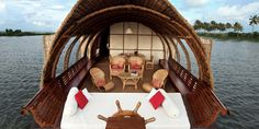 A Fabulous Boat house provided by our Resort