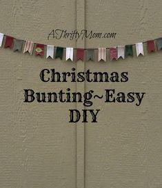 Holiday garland, #banner, #bunting, #christmas, #christmascrafts, #holidaycrafts, #diy, #easycraft, #thriftycrafts