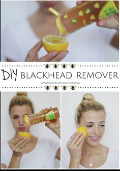 Get rid of blackheads using honey, lemon, and sugar and rubbing on problem areas. Eliminate blackheads with honey, lemon and sugar and rub the problem areas. Beauty Care, Diy Beauty, Beauty Skin, Beauty Hacks, Face Beauty, Amber Fillerup Clark, Barefoot Blonde, Get Rid Of Blackheads, Pimples