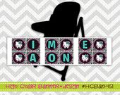 451: DIY - Hello Kitty Hot Pink and Zebra High Chair Party Banner